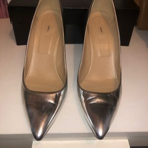 JCrew metallic heels
